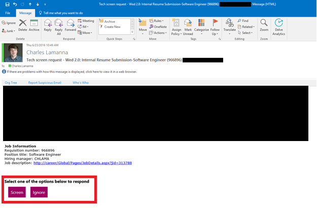 The e mail generated by Microsoft Access through Microsoft Outlook  using  information from the Pinterest