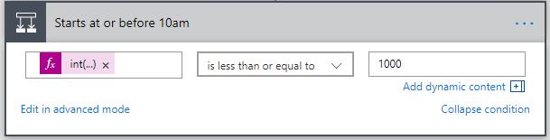 Basic condition editor