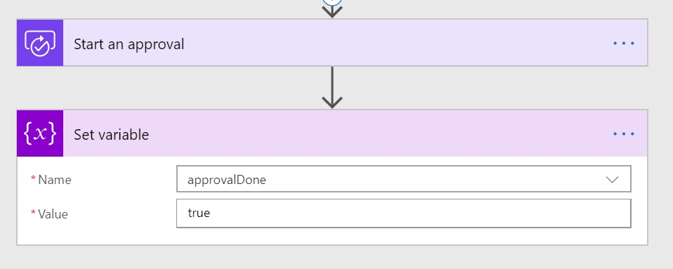 Setting done variable