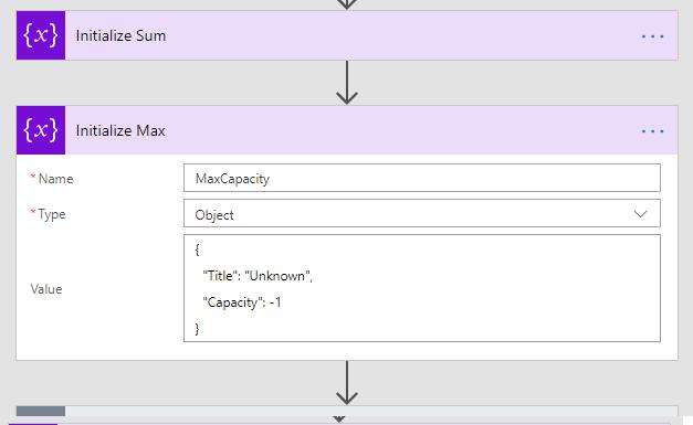 Init max using JSON
