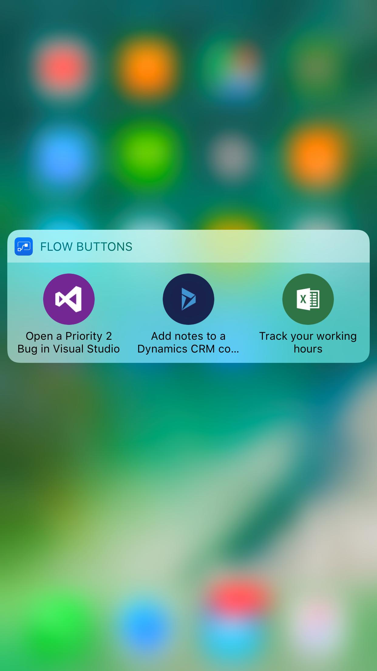 iOS 3D touch Flow widget