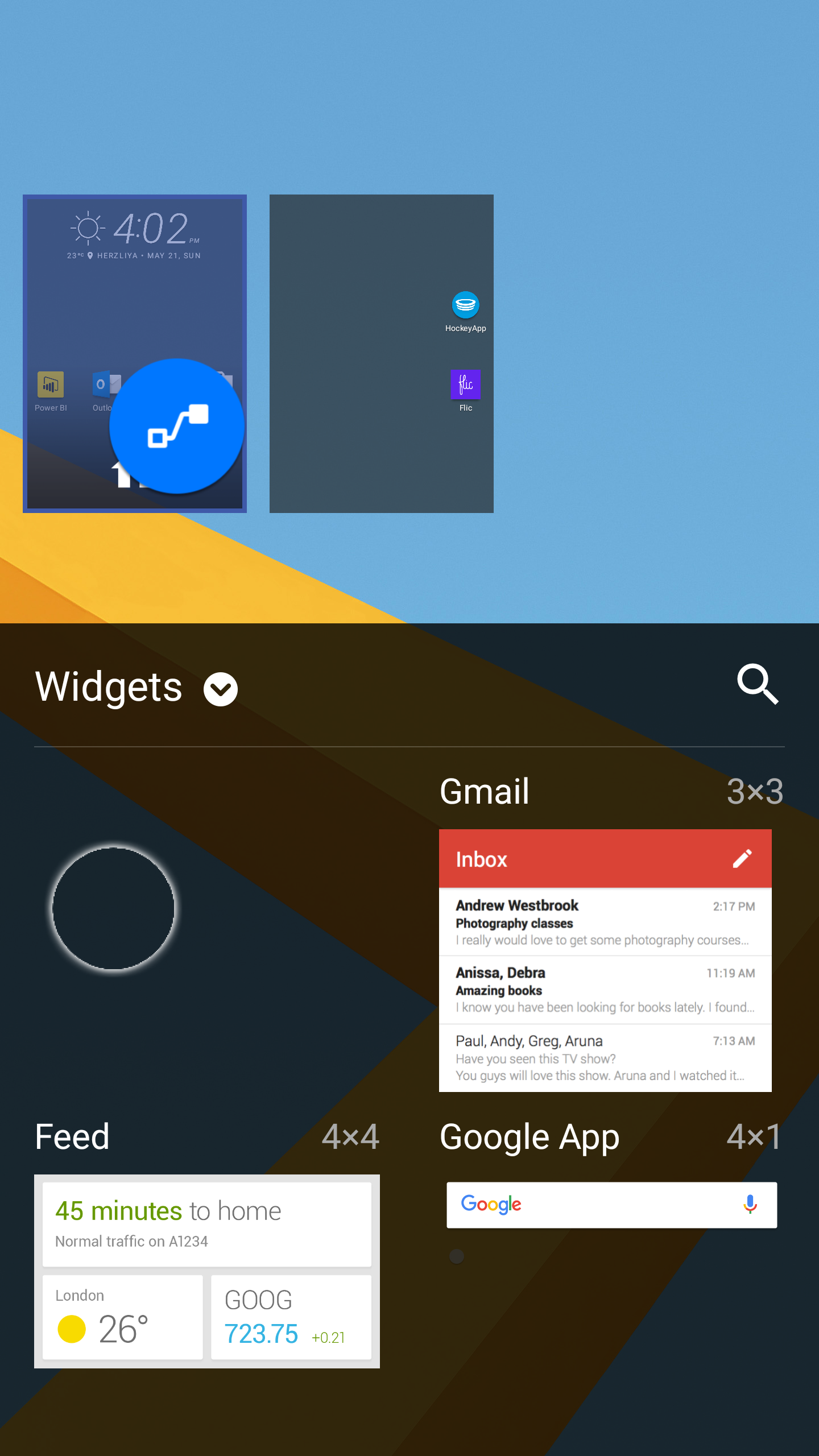 Android adding Flow widget