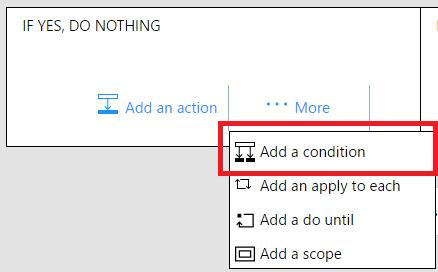 Add a condition