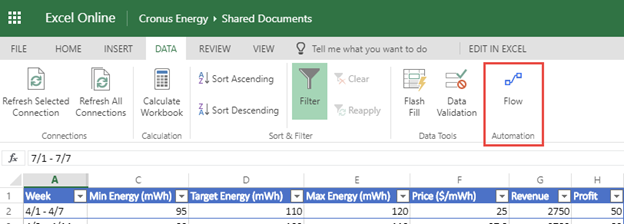 Introducing Microsoft Flow integration in Excel | Flow Blog