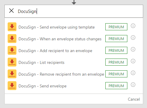 DocuSign triggers and actions