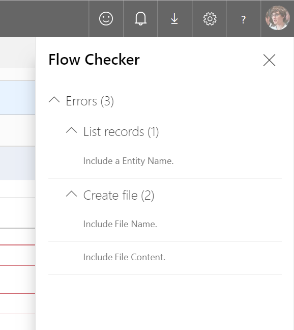 Flow checker pane open