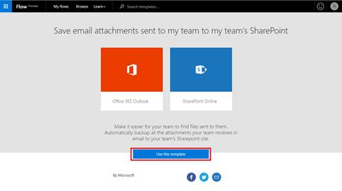 Getting Started With A Microsoft Flow Template Flow Blog - Office 365 sharepoint templates