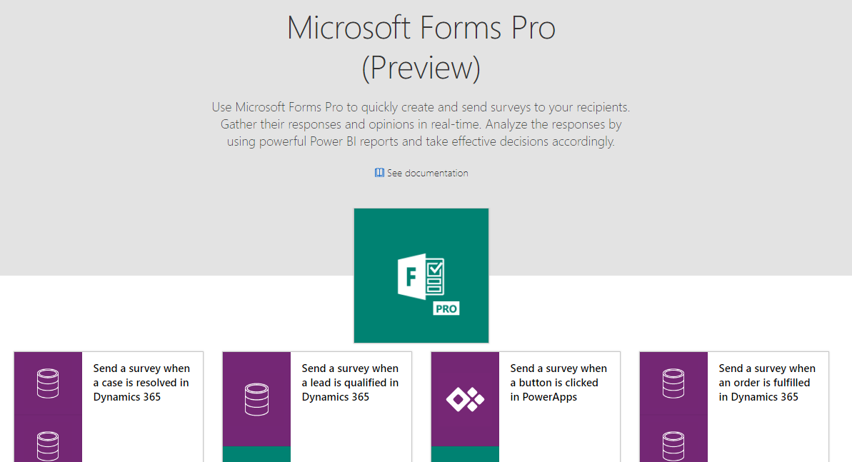 Microsoft Forms Pro Connector and Templates