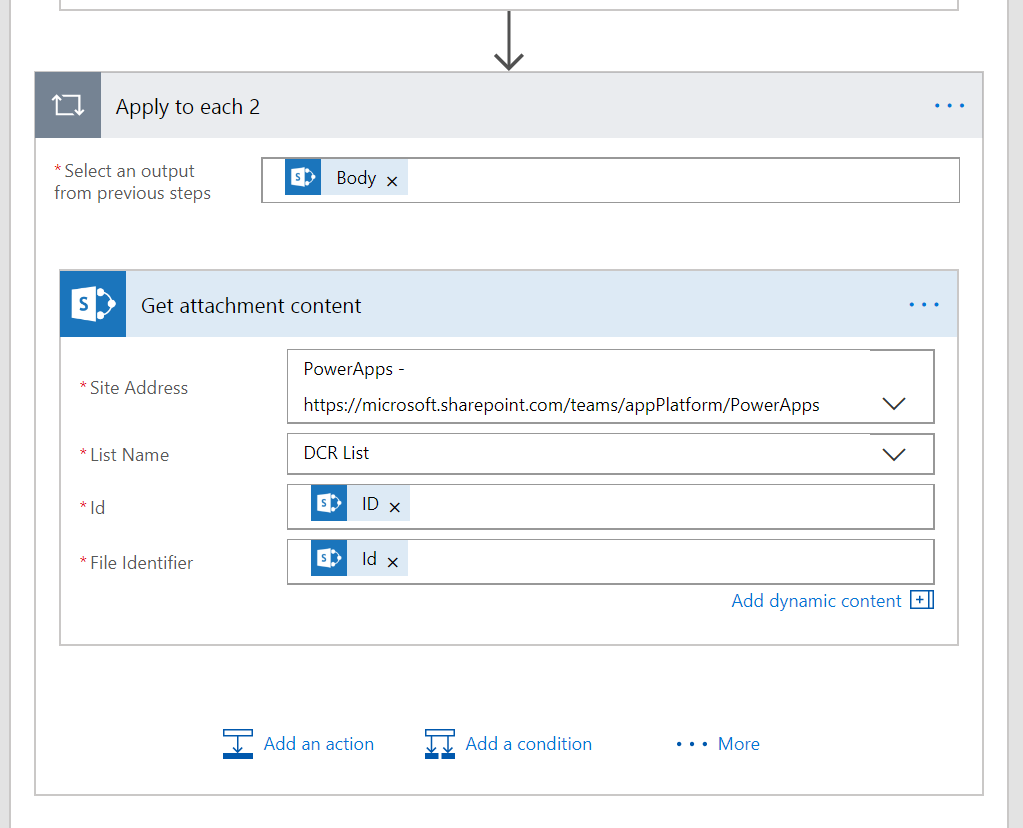 triggers for microsoft planner actions for sharepoint attachments