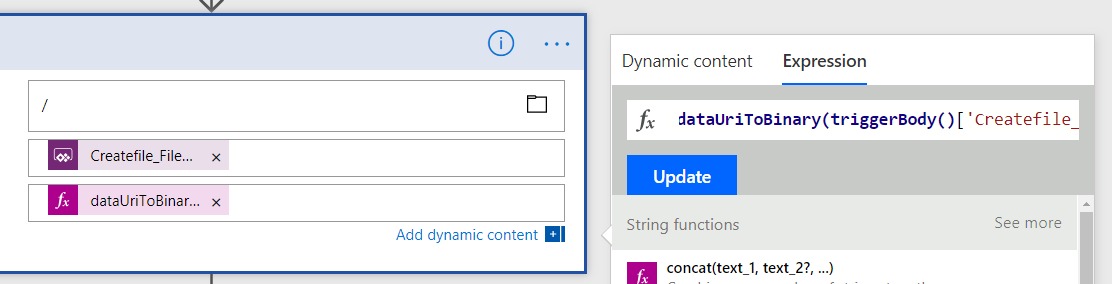 Walkthrough: Use Flow in PowerApps to upload files or return