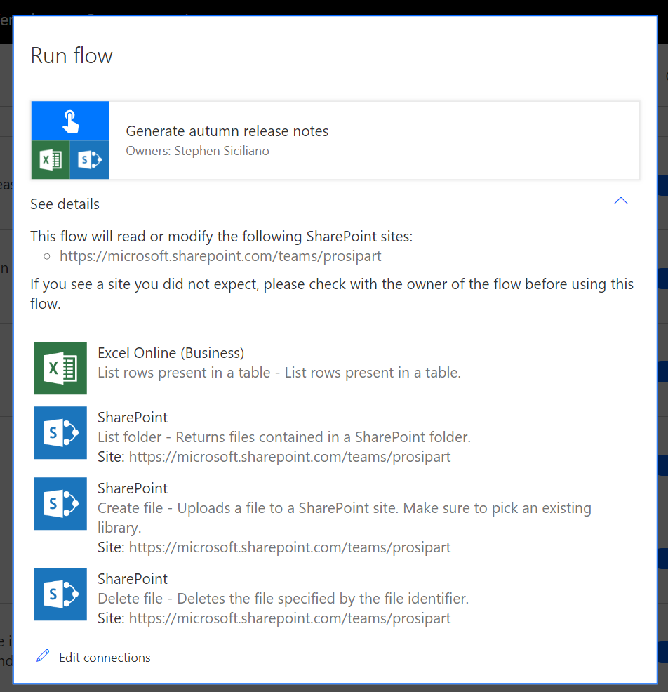 Microsoft Flow PowerShell Cmdlets, new Flow bot capabilities, a